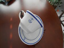 VintageNavy Cup Saucer Fouled Anchor WWII Copies of Ship Newspaper Officers Mess