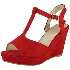 Womens Ladies Platform Peeptoe Party Wedding Platform Shoes Wedge Sandals Sizes