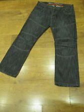 "CROSSHATCH W38"", L30"", Black Denim Loose Straight Jeans, Rise 10"", Hem 18"" vgc"
