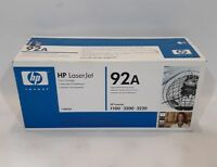 GENUINE 92A HP C4092A Black Toner Cartridge LaserJet 1100 3200 3220 NEW OEM