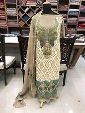 Kashmiri Aari Embroidered Suit Women Indian Ethnic Party Wear Salwar Kameez