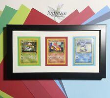 Framed Pokemon Card Artwork: Ivysaur Wartortle Charmeleon: Gen 1 Evolutions B2
