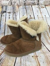 Ugg Australia Bailey Button 5991 Slip on Cozy Casual Comfy Women Boot Sz 4
