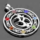 7 Stone Chakra Healing Point Reiki Bead Gemstone Pendant For Necklace Jewellery