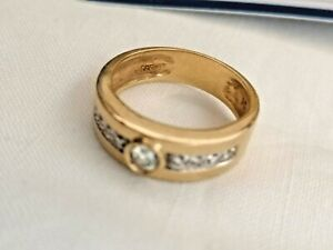 Herren/Damen Ring,Brillant 0,20 ct, Gr.53/54,  585 iger GG,