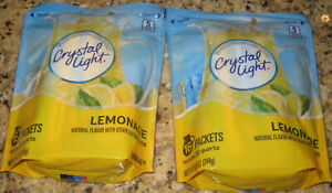 Crystal Light LEMONADE - (2) Bags of 16 Pitcher Packs Each.