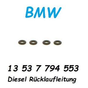 4x BMW 13537794553 O-Ring N47 N47S N47S1 Diesel Rücklauf Injektoren Dichtung