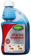 Blagdon All in One Disease Koi Fish Pond Treatment Parasites Fungus Bacteria 1000ml / 1l