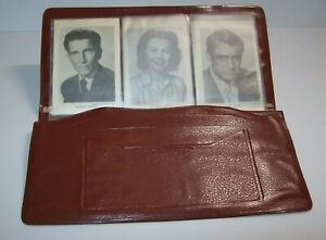 Vintage Vinyl Wallet NOS Movie Star Photos Cary Grant Betty Grable Gene Tierney