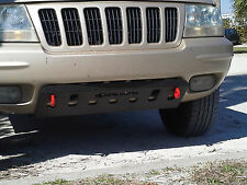 Jeep Grand Cherokee WJ Radiator / Bumper skid plate with shackle tabs