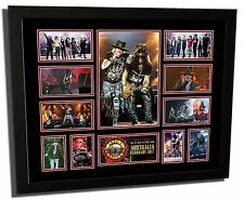 GUNS N' ROSES AXL ROSE & SLASH - NOT IN THIS LIFETIME SIGNED FRAMED MEMORABILIA