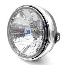"For Honda 7"" Chrome Headlight & Bucket Complete NEW Cafe Racer Bobber Custom"