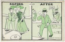Humorous 1920s Before & After Marriage Men & Women Postcard