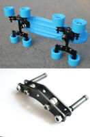 Tandem Axle Wheel Kit Double Skateboard Wheeled Set for Longboard Penny Truck