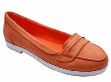 WOMENS CORAL SLIP-ON FLAT SMART CASUAL PUMPS LOAFERS MOCCASIN SHOES SIZES 3-8