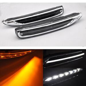 clear Switchback LED Daytime Running Light  Signal For 11-14 Porsche Cayenne 958