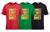 WINNER WINNER CHRISTMAS DINNER Boys T-Shirt 3-14 yrs Funny Printed Xmas Novelty