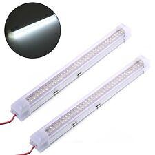 12-80V 72 LED Car Interior White Strip Lights Lamp Van Caravan ON OFF Switch New