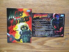 1994 TOPPS MARS ATTACKS ARCHIVES WRAPPER # 0 CARD SIGNED ZINA SAUNDERS ART, COA