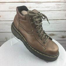 Dr. Martens Brown Boots Womens 7 Brown Lace Up Eyelet Made In England Leather