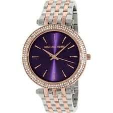 Reloj de Cuarzo Kors Darci MK3353 para mujer Michael Pulsera Dial Redondo Púrpura