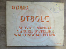 Yamaha Maintenance Manual DT80LC DT80 LCI 37A SERVICE MANUAL GENUINE