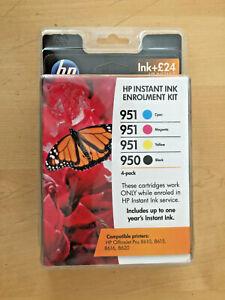 Genuine HP 950 & 951 ''INSTANT INK'' Enrolment Kit + FULL SET OF HIGH YIELD INKS