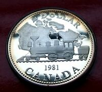 GEM SILVER DOLLAR PROOF 1981 Trans Canada RailRoad Proof Coin with New Holder