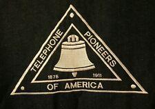 VINTAGE Telephone Pioneers of America PRE-OWNED Embroidered Blue Denim Vest