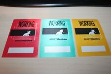 Barry Manilow - 3 x Backstage Pass - - Free Postage -