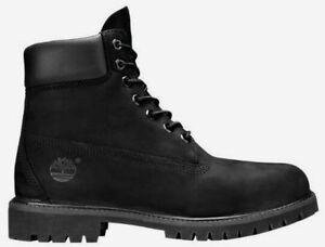 "Timberland Men's 6"" Premium Waterproof Boots NEW AUTHENTIC Black 10073"
