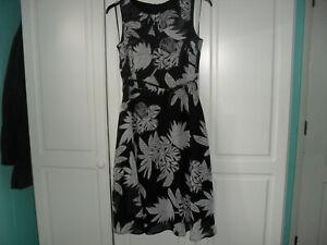 M & Co Black / White Patterned Sleeveless Dress - Size 12 - Worn once
