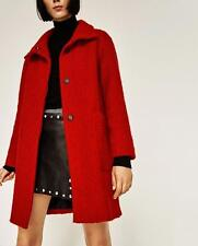 BNWT ZARA RED COAT WITH HIGH NECK  s.XS   REF. 8561/840