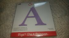 Sizzix SASSY SERIF letter A BIGZ Steel Rule Craft Die PAPER/QUILTING/Appliqué