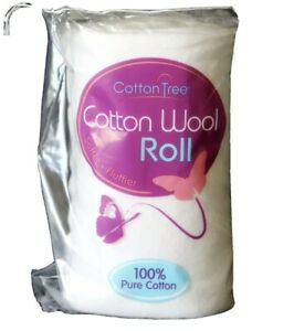 Brand New Cotton Tree Cotton Wool ROLL 100% Pure Cotton 125g Softer Fluffier