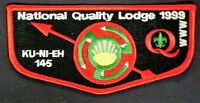 MERGED KU-NI-EH OA LODGE 145 DAN BEARD COUNCIL 462 BSA 1999 SERVICE FLAP