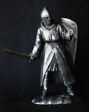 Medieval Knight Hospitaller Tin Toy soldier 54 mm., figurine, metal sculpture.