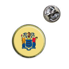 New Jersey State Flag Lapel Hat Tie Pin Tack