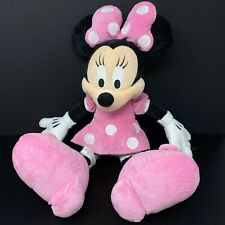 Disney Parks Minnie Mouse Plush Stuffed Animal Pink Polka Dot Dress 20""
