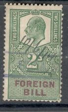 Edward VII - 2s Green - Foreign Bill - Good Used.