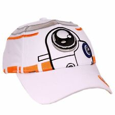 OFFICIAL STAR WARS BB-8 COSTUME STYLED WHITE STRAPBACK BASEBALL CAP