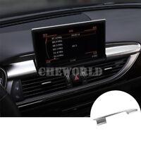 Innen Mittelkonsole GPS Navigation Rahmen Zierleisten Für Audi A6 S6 2012-2018