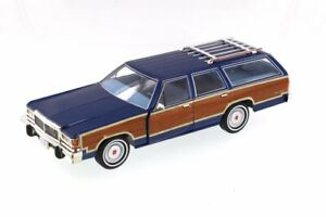 1979 Ford LTD Country Squire, Midnight Blue - Greenlight  1/18 scale Diecast Car