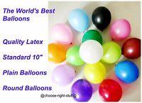 25.4cm Uni Ballons en Latex & Ballon Bouclé Ribbion pour Mariage Anniversaires