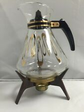 """David Douglas """"MSM"""" 8 Cup Flame Proff Coffee Decanter With Worming Stand"""
