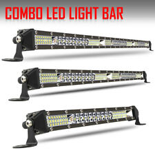 SLIM SINGLE ROW 32INCH + 22IN+12IN OSRAM LED LIGHT BAR SPOT FLOOD COMBO OFF ROAD