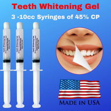 3 Pro Quality Teeth Whitening Gel Syringes  Made in USA-Strongest Gel on Ebay