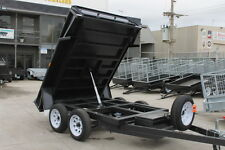 "8x5 TANDEM TIPPER BOX TRAILER - HYDRAULIC MECHANISM 15"" SIDES NEW WHEELS & TYRES"