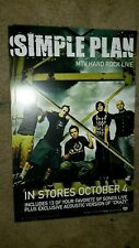 Simple-Plan-Mtv-Hard-Rock -Live-1 Poster-2 Sided-11X17In.-Nmint