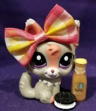 Authentic Littlest Pet Shop #1921 Fox Wolf Gray Pink White Purple Pink Dot Eyes